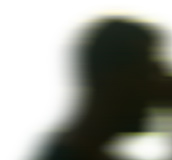 Human's head in silhouette